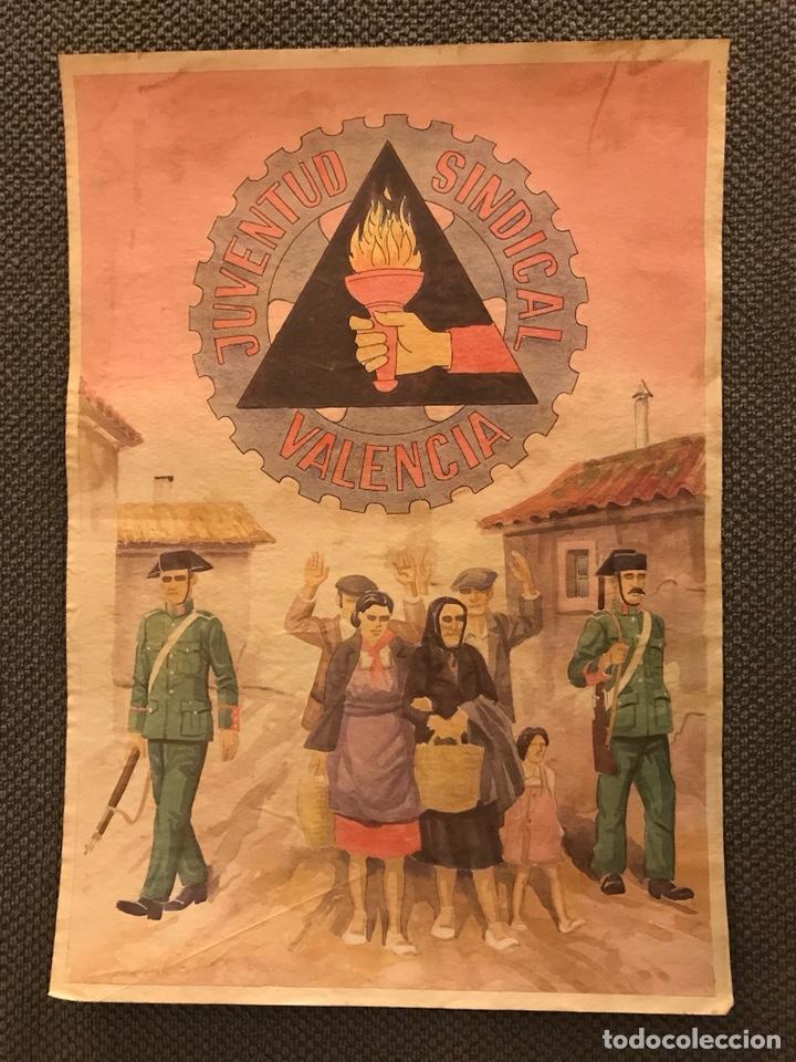 GUERRA CIVIL. CARTEL JUVENTUD SINDICAL VALENCIA (Coleccionismo - Carteles Gran Formato - Carteles Guerra Civil)