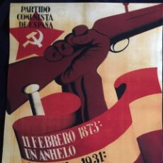Carteles Guerra Civil: GUERRA CIVIL, CARTEL PCE (REPRO. RENAU 38). Lote 139277626