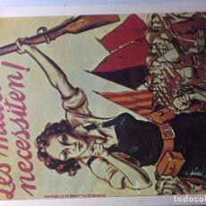 Carteles Guerra Civil: CARTEL GUERRA CIVIL ESPAÑOLA 1936-39. Lote 139871970
