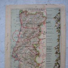 Carteles Guerra Civil: MAPA DE PORTUGAL . PUNTOS FRONTERIZOS UTILIZADOS EN LA GUERRA CIVIL CIVIL. Lote 142203982