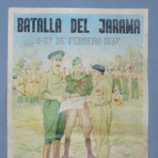 Affiches Guerre Civile: LAMINA. BATALLA JARAMA. GUERRA CIVIL. Lote 145815482