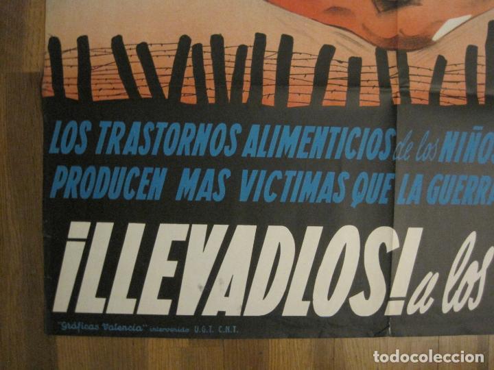 Carteles Guerra Civil: CARTEL GUERRA CIVIL ORIGINAL-AYUDA AL NIÑO-VICTIMAS DE GUERRA-HIGIENE INFANTIL-VER FOTOS-(CARPB-34) - Foto 9 - 149866582