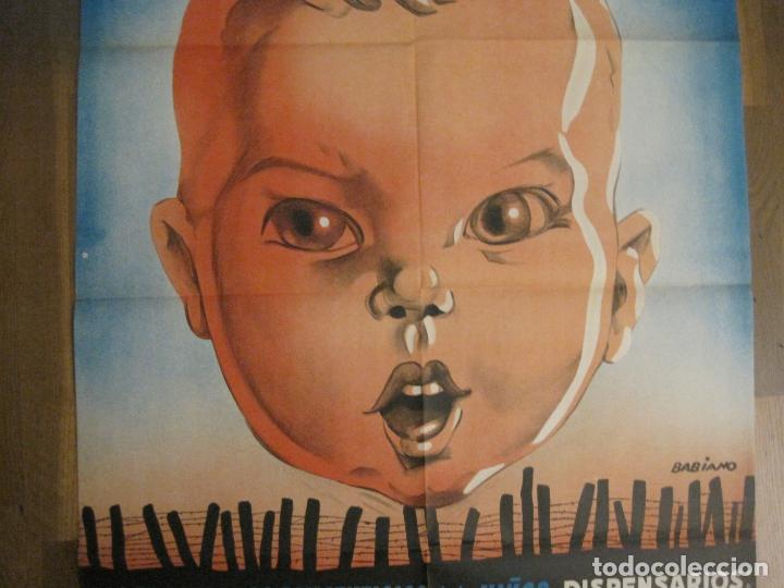 Carteles Guerra Civil: CARTEL GUERRA CIVIL ORIGINAL-AYUDA AL NIÑO-VICTIMAS DE GUERRA-HIGIENE INFANTIL-VER FOTOS-(CARPB-34) - Foto 14 - 149866582