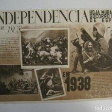 Carteles Guerra Civil: CARTELITO GUERRA CIVIL ORIGINAL-HOJA MURAL SOCORRO ROJO-1938-MIDE 27 X 40 CM-VER FOTOS-(CARPB-35). Lote 149867226