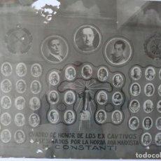 Carteles Guerra Civil: GUERRA CIVIL.- CUADRO HONOR EX-CAUTIVOS ASESINADOS POR LA HORDA MARXISTA EN CONSTANTÍ - TARRAGONA-. Lote 150615266