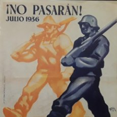 Carteles Guerra Civil: 2 CARTELES GUERRA CIVIL (REPRODUCCION). Lote 151518574