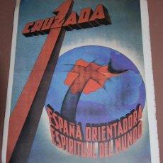 Carteles Guerra Civil: CARTELES GUERRA CIVIL ED. URBIÓN Nº 5 BANDO NACIONAL 1 CRUZADA. Lote 158953178