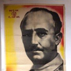 Carteles Guerra Civil: CARTEL POSTER FRANCISCO FRANCO. Lote 161438038