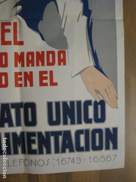Carteles Guerra Civil: CARTEL GUERRA CIVIL CNT FAI AIT-SINDICATO AGRICOLA-RICARD OBIOLS-ORIGINAL-VER FOTOS-(CARPB-73) - Foto 9 - 161832258