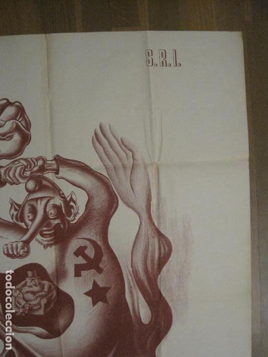 Carteles Guerra Civil: CARTEL GUERRA CIVIL SOCORRO ROJO-ORTEGA UGT CNT-IZQUIERDISTA-ILUS·PUYOL-ORIGINAL-VER FOTOS(CARPB-75) - Foto 10 - 161833034