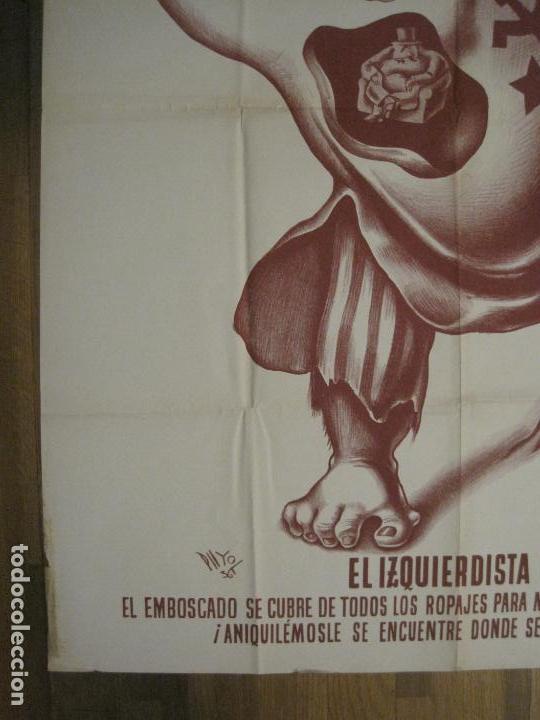 Carteles Guerra Civil: CARTEL GUERRA CIVIL SOCORRO ROJO-ORTEGA UGT CNT-IZQUIERDISTA-ILUS·PUYOL-ORIGINAL-VER FOTOS(CARPB-75) - Foto 11 - 161833034