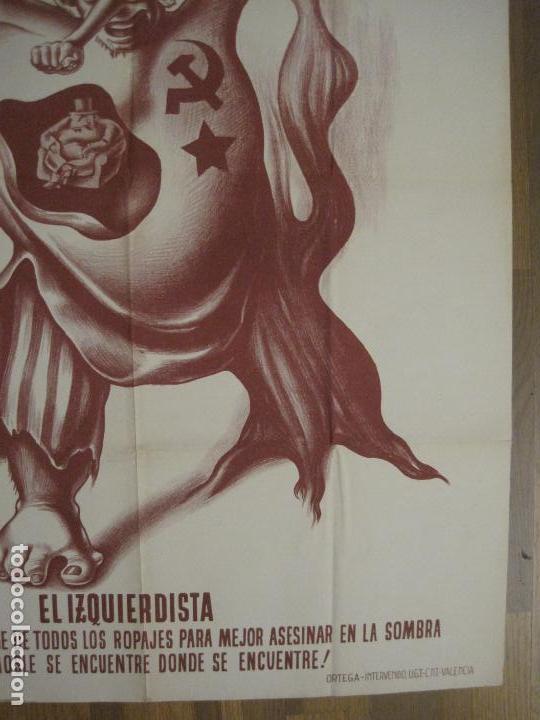 Carteles Guerra Civil: CARTEL GUERRA CIVIL SOCORRO ROJO-ORTEGA UGT CNT-IZQUIERDISTA-ILUS·PUYOL-ORIGINAL-VER FOTOS(CARPB-75) - Foto 12 - 161833034