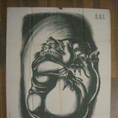 Carteles Guerra Civil: CARTEL GUERRA CIVIL SOCORRO ROJO-ORTEGA UGT CNT-ACAPARADOR-ILUS· PUYOL-ORIGINAL-VER FOTOS(CARPB-76). Lote 161833366