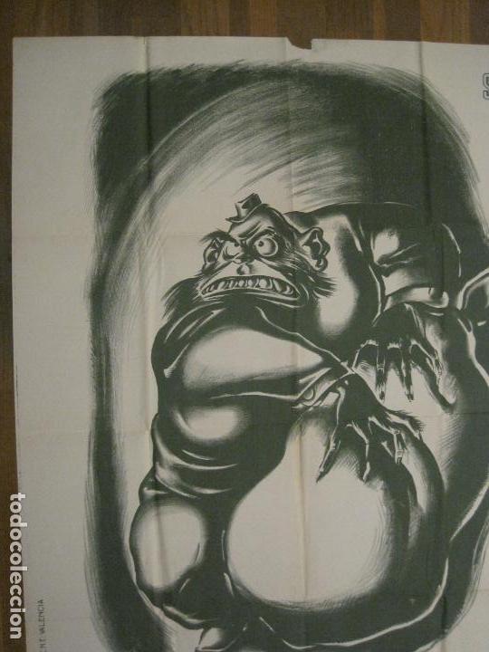 Carteles Guerra Civil: CARTEL GUERRA CIVIL SOCORRO ROJO-ORTEGA UGT CNT-ACAPARADOR-ILUS· PUYOL-ORIGINAL-VER FOTOS(CARPB-76) - Foto 4 - 161833366