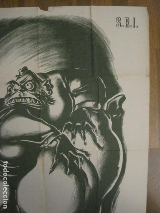 Carteles Guerra Civil: CARTEL GUERRA CIVIL SOCORRO ROJO-ORTEGA UGT CNT-ACAPARADOR-ILUS· PUYOL-ORIGINAL-VER FOTOS(CARPB-76) - Foto 5 - 161833366