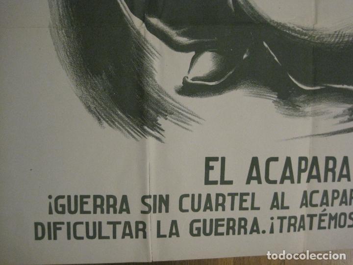 Carteles Guerra Civil: CARTEL GUERRA CIVIL SOCORRO ROJO-ORTEGA UGT CNT-ACAPARADOR-ILUS· PUYOL-ORIGINAL-VER FOTOS(CARPB-76) - Foto 10 - 161833366