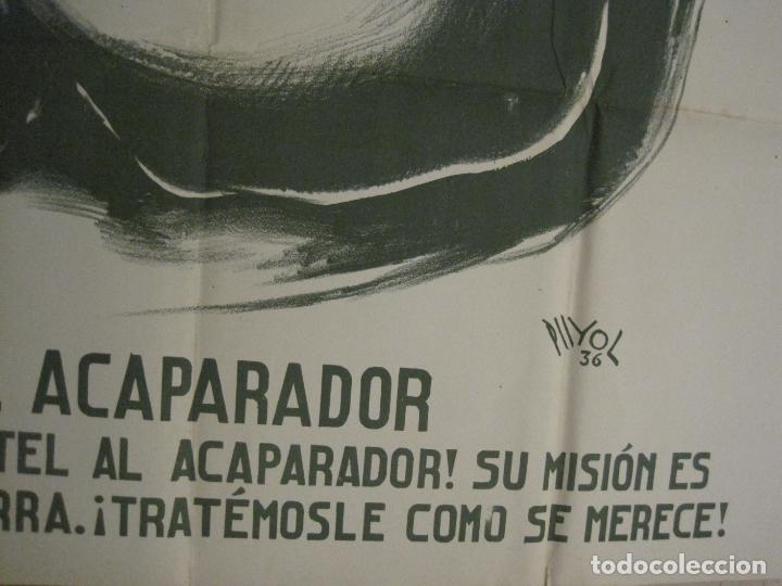 Carteles Guerra Civil: CARTEL GUERRA CIVIL SOCORRO ROJO-ORTEGA UGT CNT-ACAPARADOR-ILUS· PUYOL-ORIGINAL-VER FOTOS(CARPB-76) - Foto 11 - 161833366