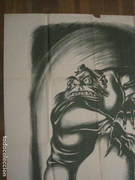 Carteles Guerra Civil: CARTEL GUERRA CIVIL SOCORRO ROJO-ORTEGA UGT CNT-ACAPARADOR-ILUS· PUYOL-ORIGINAL-VER FOTOS(CARPB-76) - Foto 12 - 161833366