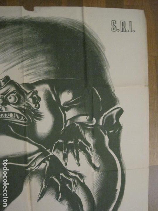 Carteles Guerra Civil: CARTEL GUERRA CIVIL SOCORRO ROJO-ORTEGA UGT CNT-ACAPARADOR-ILUS· PUYOL-ORIGINAL-VER FOTOS(CARPB-76) - Foto 13 - 161833366