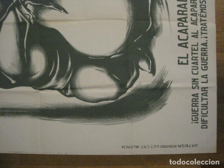 Carteles Guerra Civil: CARTEL GUERRA CIVIL SOCORRO ROJO-ORTEGA UGT CNT-ACAPARADOR-ILUS· PUYOL-ORIGINAL-VER FOTOS(CARPB-76) - Foto 14 - 161833366