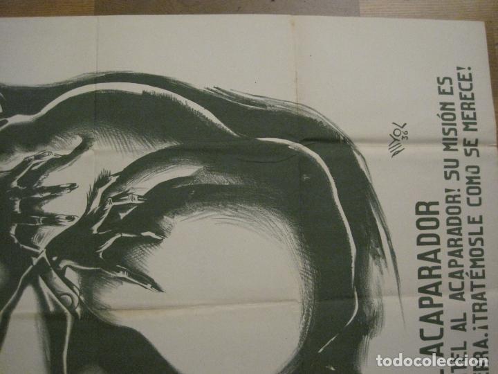 Carteles Guerra Civil: CARTEL GUERRA CIVIL SOCORRO ROJO-ORTEGA UGT CNT-ACAPARADOR-ILUS· PUYOL-ORIGINAL-VER FOTOS(CARPB-76) - Foto 15 - 161833366