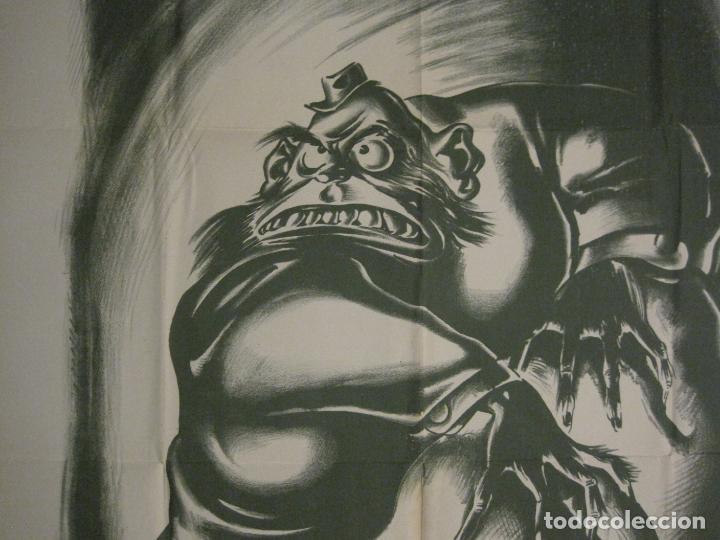 Carteles Guerra Civil: CARTEL GUERRA CIVIL SOCORRO ROJO-ORTEGA UGT CNT-ACAPARADOR-ILUS· PUYOL-ORIGINAL-VER FOTOS(CARPB-76) - Foto 16 - 161833366