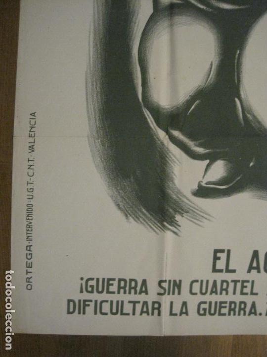 Carteles Guerra Civil: CARTEL GUERRA CIVIL SOCORRO ROJO-ORTEGA UGT CNT-ACAPARADOR-ILUS· PUYOL-ORIGINAL-VER FOTOS(CARPB-76) - Foto 17 - 161833366