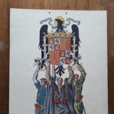 Carteles Guerra Civil: LITOGRAFIA DE CARLOS SAENZ DE TEJADA, GUERRA CIVIL,. Lote 162348590