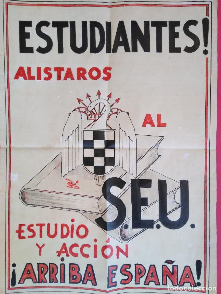 CARTEL ORIGINAL. S.E.U. FRENTE DE JUVENTUDES (Coleccionismo - Carteles Gran Formato - Carteles Guerra Civil)