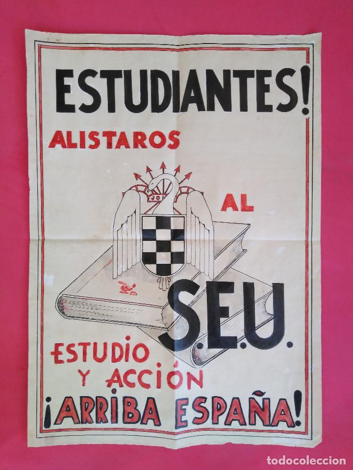 Carteles Guerra Civil: Cartel Original. S.E.U. Frente de Juventudes - Foto 2 - 167533264