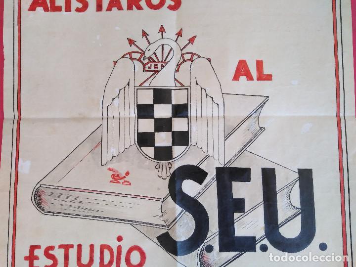 Carteles Guerra Civil: Cartel Original. S.E.U. Frente de Juventudes - Foto 5 - 167533264