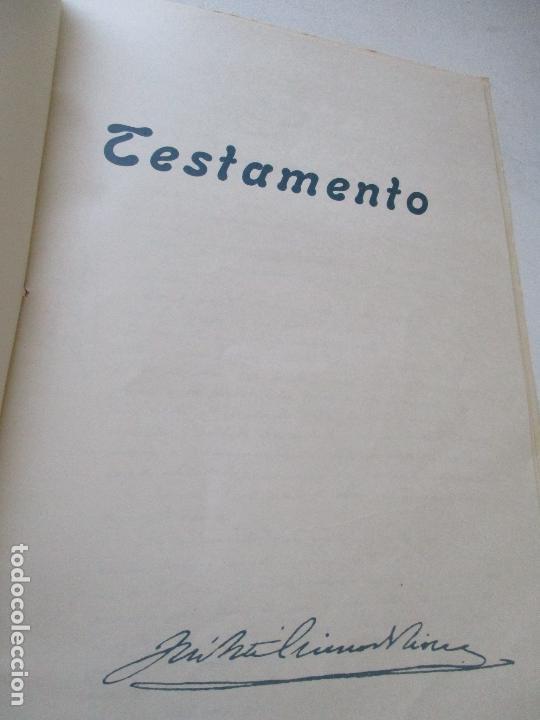 Carteles Guerra Civil: TESTAMENTO DE JOSÉ ANTONIO PRIMO DE RIVERA, IMPRESO : SUCESORES DE SUCH, SERRA Y COMPAÑIA-ALICANTE - Foto 2 - 167971936