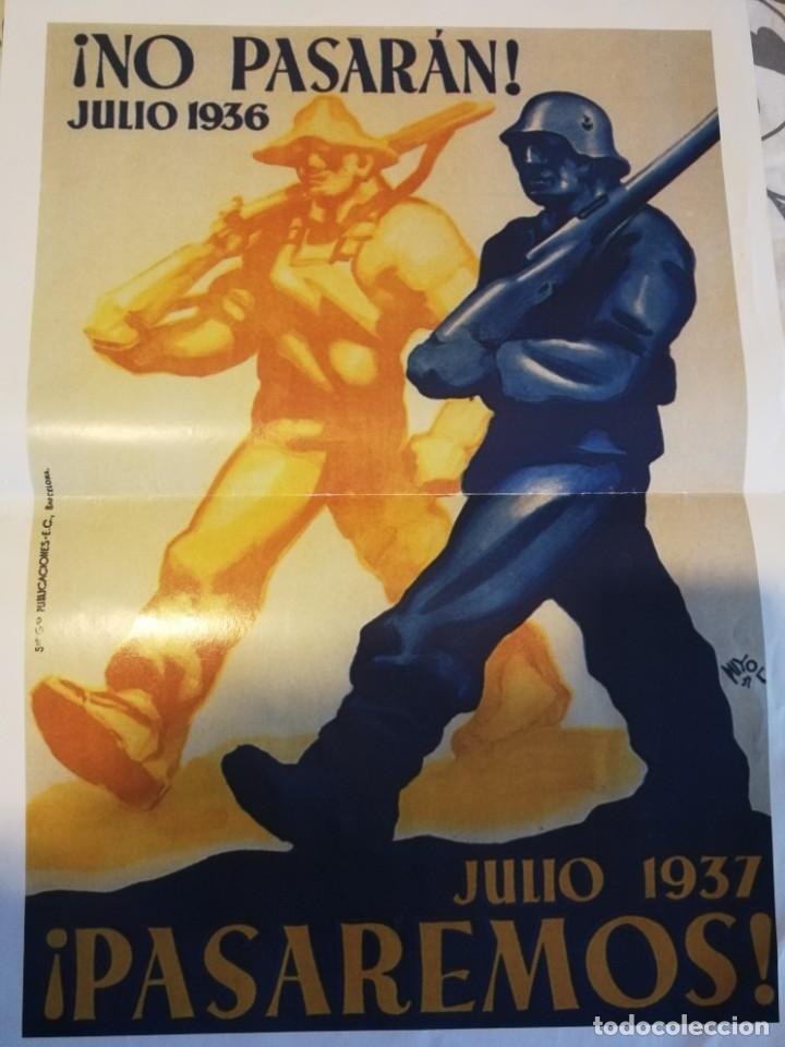 5 CARTELES DE LA GUERRA CIVIL ESPAÑOLA - REPRODUCCIONES (Coleccionismo - Carteles Gran Formato - Carteles Guerra Civil)