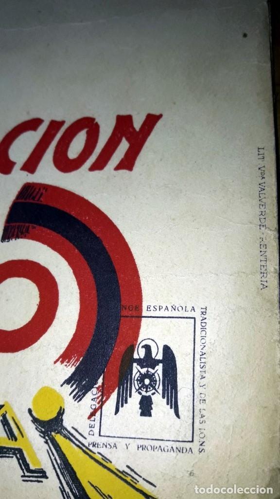 Carteles Guerra Civil: Franciso Franco Cartel original en papel algodon grueso Falange Lit. Valverde Renteria firma Crispin - Foto 2 - 173880503