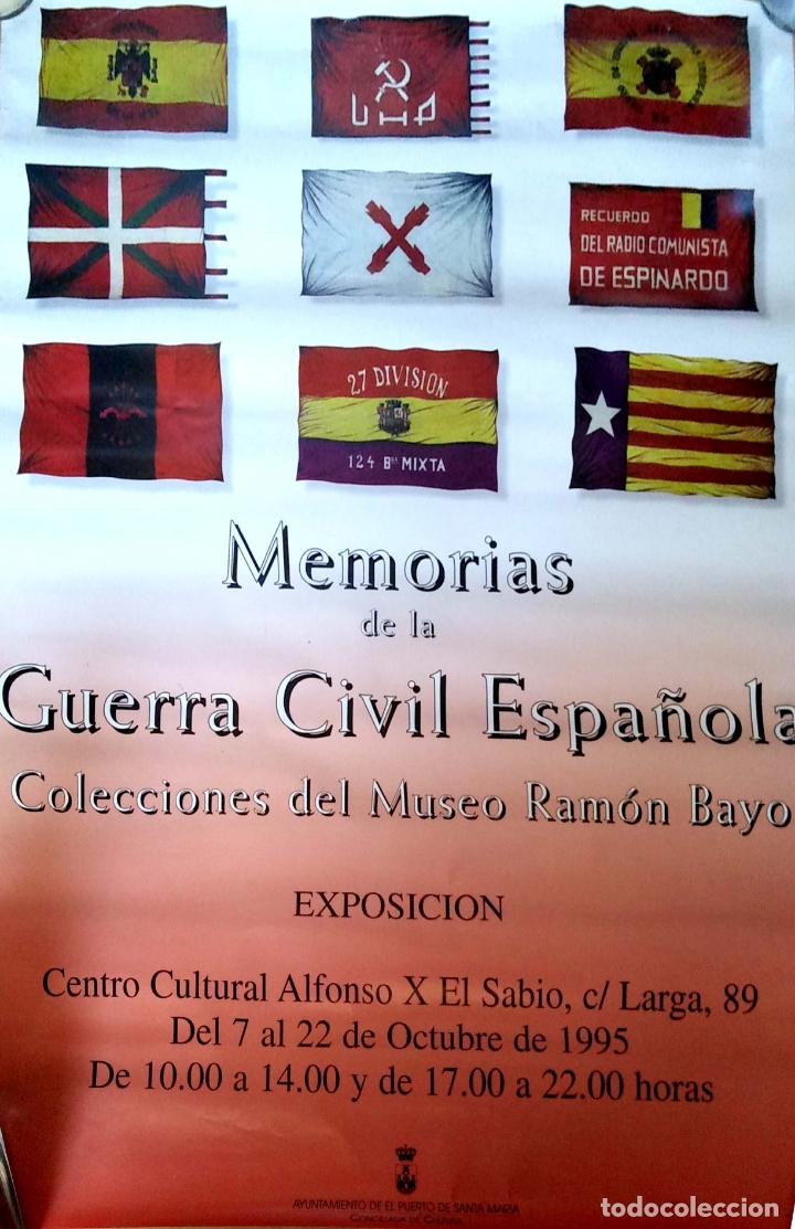 CARTEL. MEMORIAS DE LA GUERRA CIVIL ESPAÑOLA. COLECCIONES DEL MUSEO RAMON MAYO. 1995. (Coleccionismo - Carteles Gran Formato - Carteles Guerra Civil)
