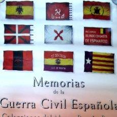 Carteles Guerra Civil: CARTEL. MEMORIAS DE LA GUERRA CIVIL ESPAÑOLA. COLECCIONES DEL MUSEO RAMON MAYO. 1995.. Lote 175293070