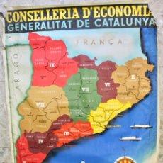 Carteles Guerra Civil: CARTEL ORIGINAL GUERRA CIVIL. REGIONS I COMARQUES OCTUBRE 1936. CONSELLERIA D'ECONOMIA GENERALITAT. Lote 175513370
