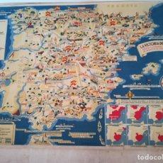 Carteles Guerra Civil: MAPA DE LA GUERRA CIVIL ESPAÑOLA. Lote 176673604