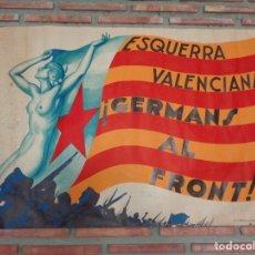 Carteles Guerra Civil: ! GERMANS AL FRONT ! . REFº-106. Lote 177883712