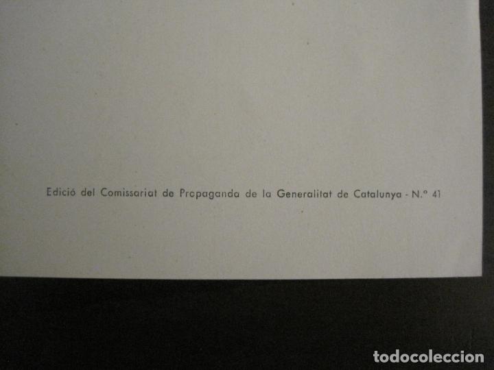 Carteles Guerra Civil: GUERRA CIVIL-CARTEL POEMA ALBERTI -DEFENSA MADRID--comissariat generalitat catVER FOTOS-(V-17.889) - Foto 10 - 181071213