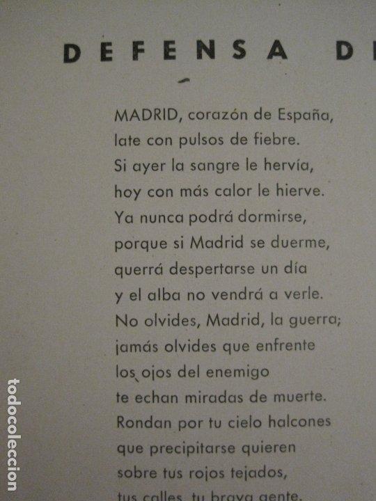 Carteles Guerra Civil: GUERRA CIVIL-CARTEL POEMA ALBERTI -DEFENSA MADRID--comissariat generalitat catVER FOTOS-(V-17.889) - Foto 11 - 181071213