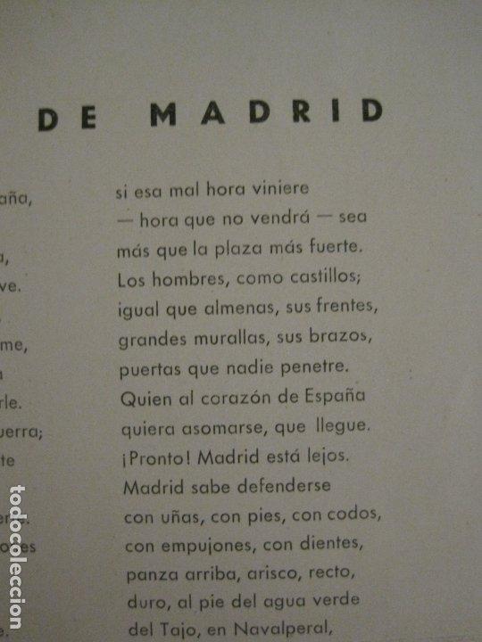 Carteles Guerra Civil: GUERRA CIVIL-CARTEL POEMA ALBERTI -DEFENSA MADRID--comissariat generalitat catVER FOTOS-(V-17.889) - Foto 13 - 181071213