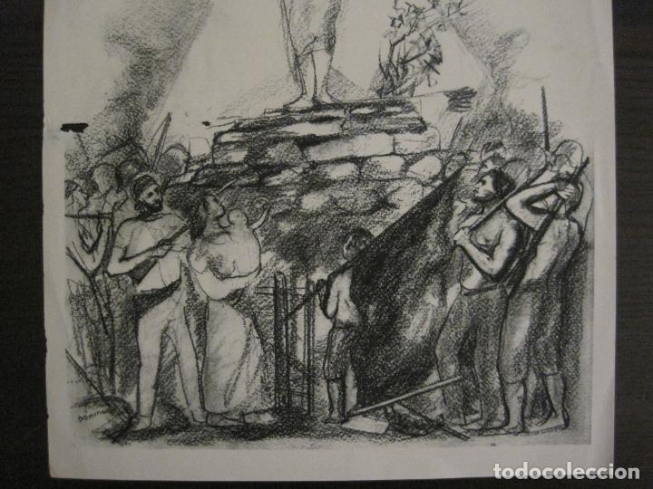 Carteles Guerra Civil: GUERRA CIVIL-CARTEL POEMA ALBERTI -DEFENSA CATALUÑA-comissariat generalitat cat-VER FOTOS(V-17.890) - Foto 5 - 181071435