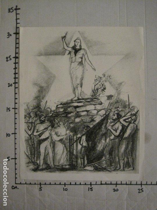 Carteles Guerra Civil: GUERRA CIVIL-CARTEL POEMA ALBERTI -DEFENSA CATALUÑA-comissariat generalitat cat-VER FOTOS(V-17.890) - Foto 19 - 181071435