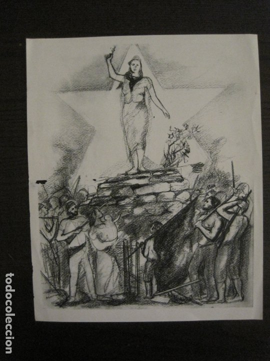 GUERRA CIVIL-CARTEL POEMA ALBERTI -DEFENSA CATALUÑA-COMISSARIAT GENERALITAT CAT-VER FOTOS(V-17.890) (Coleccionismo - Carteles Gran Formato - Carteles Guerra Civil)