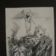 Carteles Guerra Civil: GUERRA CIVIL-CARTEL CON POEMA DE ALBERTI -DEFENSA CATALUÑA-GENERALITAT CATALUNYA-VER FOTOS(V-17.890). Lote 181071435