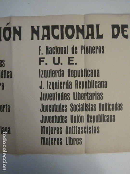 Carteles Guerra Civil: CARTEL PASQUIN GUERRA CIVIL ORIGINAL-COMISION NACIONAL HOMENAJE-CNT FAI-VER FOTOS-(V-17.935) - Foto 4 - 181408912