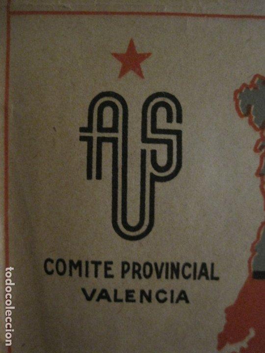Carteles Guerra Civil: GERRA CIVIL-CARTEL AOS-AMIGOS DE LA UNION SOVIETICA-ILUSTRADO POR MONLEON-VER FOTOS-(V-18.060) - Foto 2 - 182889555