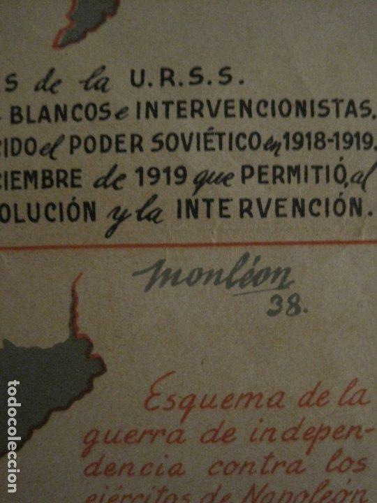 Carteles Guerra Civil: GERRA CIVIL-CARTEL AOS-AMIGOS DE LA UNION SOVIETICA-ILUSTRADO POR MONLEON-VER FOTOS-(V-18.060) - Foto 3 - 182889555