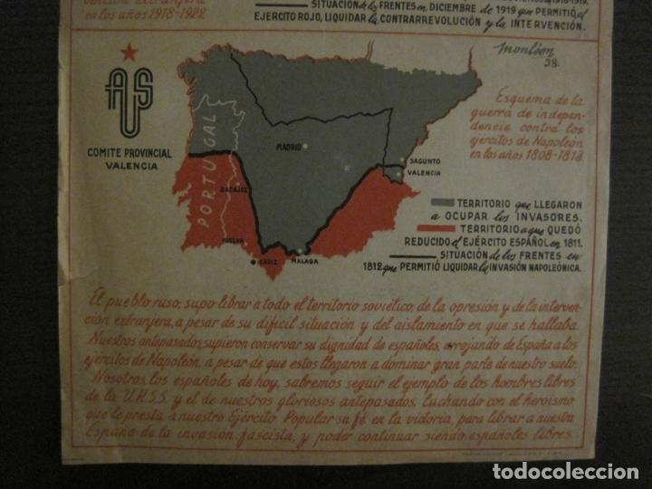 Carteles Guerra Civil: GERRA CIVIL-CARTEL AOS-AMIGOS DE LA UNION SOVIETICA-ILUSTRADO POR MONLEON-VER FOTOS-(V-18.060) - Foto 6 - 182889555